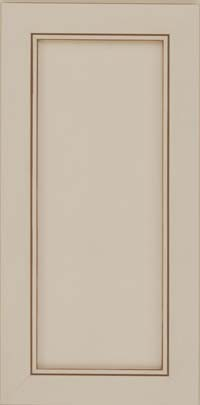 Square Recessed Panel - Veneer (AC1M) Maple in Canvas w/Cocoa Glaze - Wall