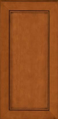 Square Recessed Panel - Veneer (AC1M) Maple in Chestnut w/Onyx Glaze - Wall