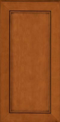 Square Recessed Panel - Veneer (AC1M) Maple in Cinnamon w/Onyx Glaze - Wall
