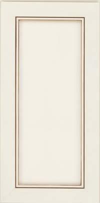 Square Recessed Panel - Veneer (AC1M) Maple in Dove White w/Cocoa Glaze - Wall
