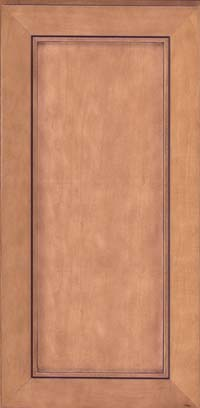 Square Recessed Panel - Veneer (AC1M) Maple in Ginger w/Sable Glaze - Wall