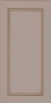 Square Recessed Panel - Veneer (AC1M) Maple in Pebble Grey w/ Cocoa Glaze - Wall