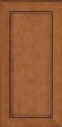 Square Recessed Panel - Veneer (AC1M) Maple in Praline w/Onyx Glaze - Wall