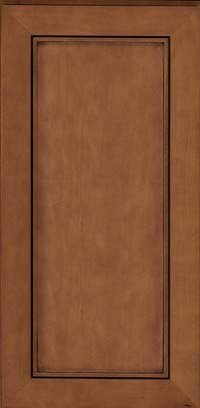 Square Recessed Panel - Veneer (AC1M) Maple in Rye w/Sable Glaze - Wall