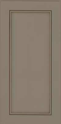 Square Recessed Panel - Veneer (AC1M) Maple in Sage w/Cocoa Glaze - Wall