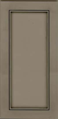 Square Recessed Panel - Veneer (AC1M) Maple in Sage w/Onyx Glaze - Wall
