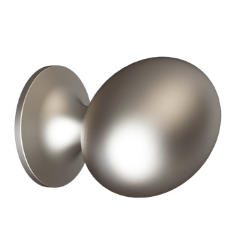 Satin Nickel Medium Football Knob
