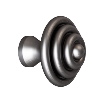 Pewter Domed Ring Knob