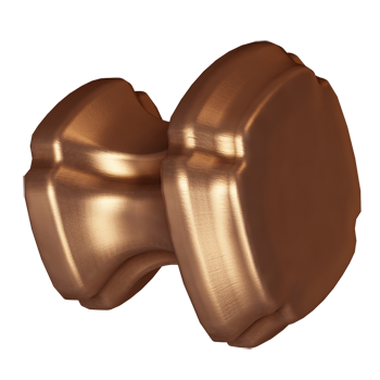 Brushed Bronze Empire Square Knob