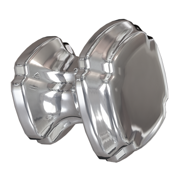Polished Nickel Empire Square Knob