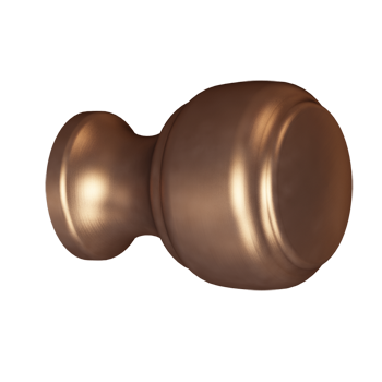 Brushed Bronze Crescent Knob