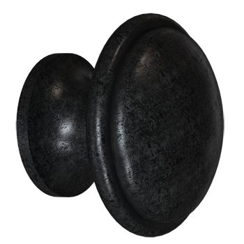 Blackened Pewter Trunk Knob