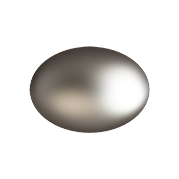 Satin Nickel Medium Football Knob - Alternate View