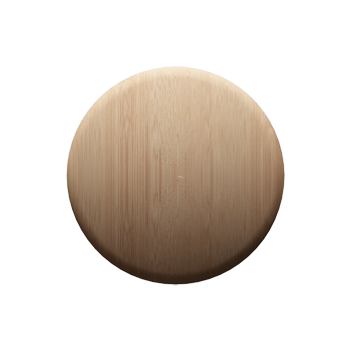 Maple Round Knob - Alternate View