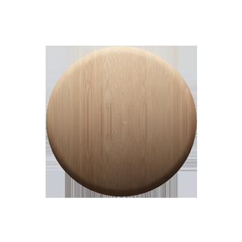 Maple Round Knob - Alternate View