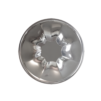 Polished Nickel Empire Knob - Alternate View
