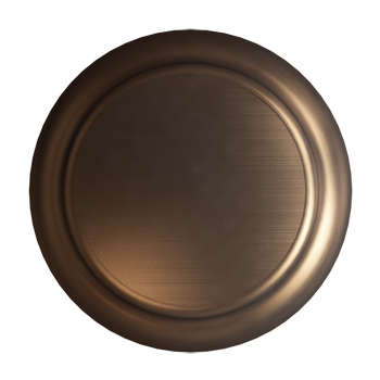 Brushed Bronze Crescent Knob - Alternate View