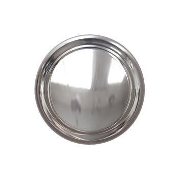 Polished Nickel Crescent Knob - Alternate View