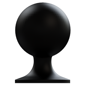 Oil Rubbed Bronze Medium Football Knob - Alternate View