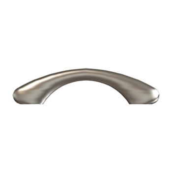 Satin Nickel Dog Bone Pull - Alternate View