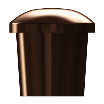 Dark Brushed Bronze Tailored Knob - Alternate View