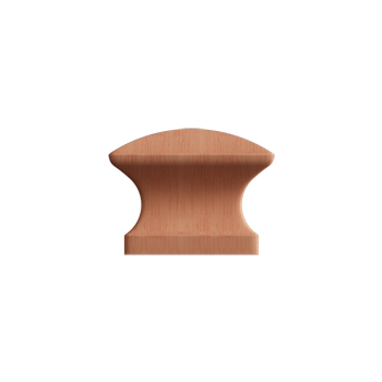 Cherry Square Wood Knob - Alternate View