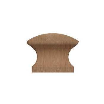 Maple Square Wood Knob - Alternate View