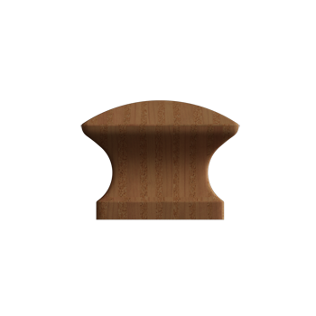 Oak Square Wood Knob - Alternate View