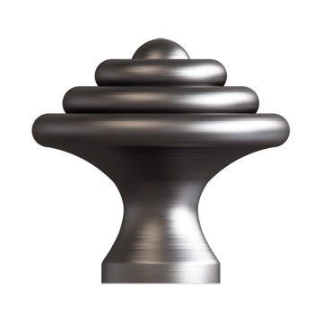 Pewter Domed Ring Knob - Alternate View
