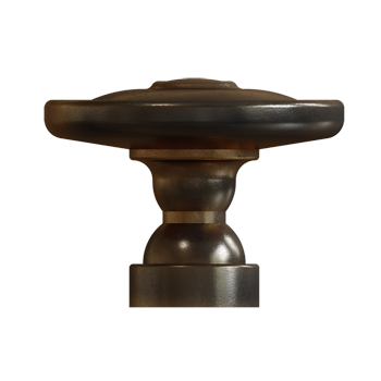 Venetian Bronze Rustic Knob - Alternate View