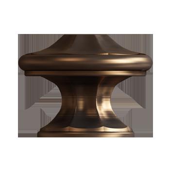 Brushed Bronze Empire Knob - Alternate View