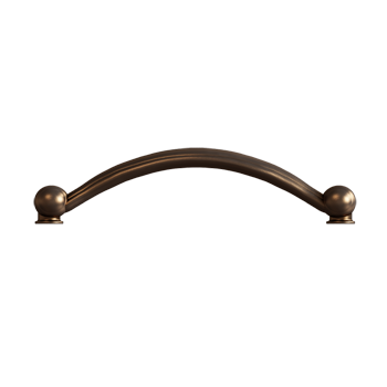 Brushed Bronze Crescent Pull - Alternate View
