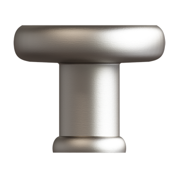 Satin Nickel Baluster Knob - Alternate View