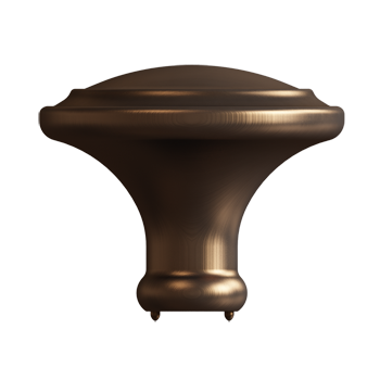 Dark Brushed Bronze Simplicity Knob - Alternate View