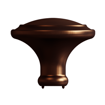 Statuary Bronze Simplicity Knob - Alternate View