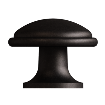 Blackened Pewter Trunk Knob - Alternate View
