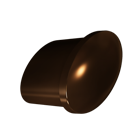 Dark Brushed Bronze Tailored Knob (7017.DBB)