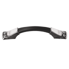 Jericho Pull - Polished Chrome w/ Matte Black Center Bar - Medium