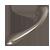 Satin Nickel Dog Bone Pull - Small
