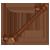 Brushed Bronze Baluster Pull