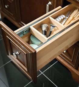 Vanity Wood Tiered Storage Divider