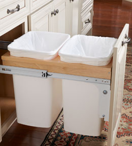 Base Top Mount Wastebasket - Double