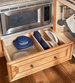 Corner buffet cabinet quotes for Kraftmaid storage solutions