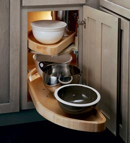 Base Blind Corner w/ Wood Lazy Susan