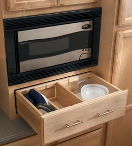 Microwave wall cabinet shelf for Kraftmaid microwave shelf