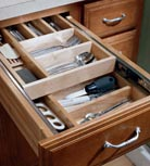 Wood Tiered Drawer Storage