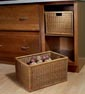 Kitchen - Food - Base Open Wicker Basket Cabinet