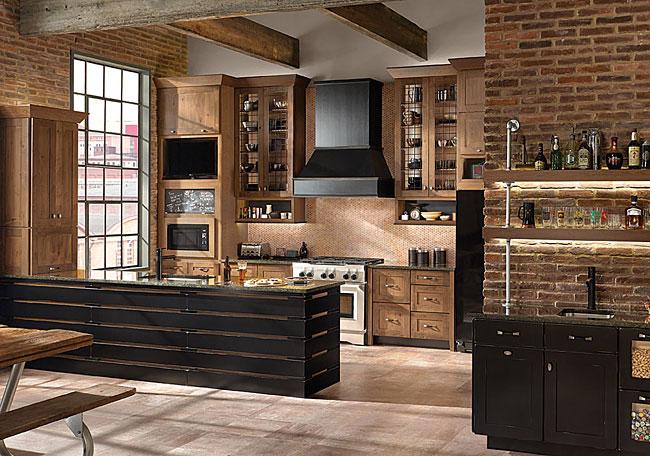 Rustic Alder Kitchen In Husk Kraftmaid
