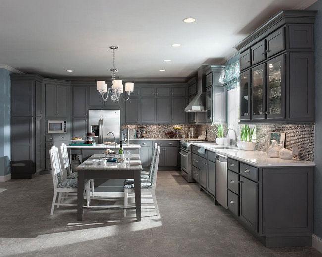 Maple Kitchen in Greyloft - KraftMaid
