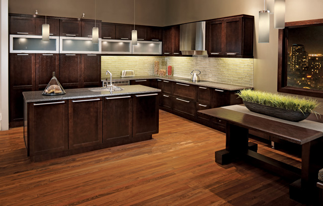 how to clean kraftmaid kitchen cabinets quartersawn oak kitchen in peppercorn kraftmaid 16888